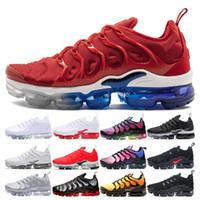 TN plus Spedizione gratuita Stati Uniti Scarpe da corsa Donna TN Plus BE TRUE Uva tutta rossa Triple Nero Bianco Sneakers traspiranti Scarpe sneaker