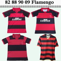 08 09 Flamengo Josiel WILLIAMS Kléberson ADRIANO Mens RETRO Maillots de football 1982 1988 1990 Accueil Football Shirt Uniformes à manches courtes pour adultes