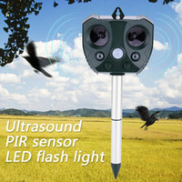 Outdoor Ultrasonic Solar Pest Repeller Animal Pest Mouse Rep...