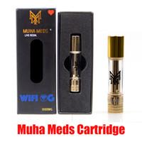Cartuccia Meds Muha diretta resina Vape Carrello 0,8 ml Serbatoio olio di ceramica di spessore della bobina 510 Batteria Giardino Atomizer in azione 10 Flavs