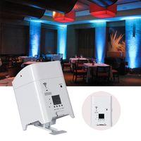 4PCS الحرية PAR 4x18w اللاسلكية البطارية DMX RGBWA UV 6in1 أضواء WIFI التحكم عن بعد الذكية شقة LED PAR DJ Uplightings