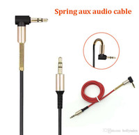1M 3ft male to male aux audio cable spring bend head aux data cable for smart cellphone speaker car
