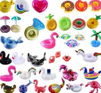 Kupa Partisi Yüzme Havuzu Hava Döşekler için Şişme İçecek Sahipleri Kupa Havuz Suyu Float Parti Flamingo İçecek Tutucu KKA7888 Malzemeleri
