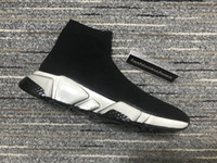 Männer Geschwindigkeit Sneaker Graffiti Marti Sock Sneakers Stiefel Frauen Rote Bottoms Speed Trainer Runner Klare Sohle Sneaker Recycling Kanye Dreifach Vintage