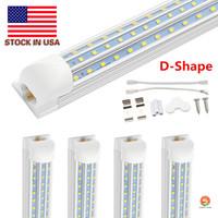 Forma en forma de T8 LED luces de tubo de 8 pies en forma de 4 pies 60W 8FT 120W 12000LM 2.4M Puerta de enfriador integrado LED LED fluorescente iluminación de doble resplandor