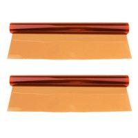 2x Gel de color Corrección de filtro Hojas de superposiciones color de transparencia de la película de plástico gel de iluminación filtros rojos