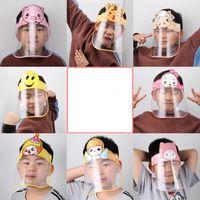 Crianças Segurança Faceshield Transparente Full Face Capa Protetora Film ferramenta anti-fog proteção para o rosto material PET premium Máscara Designer