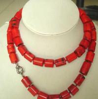 """보석상 옥 목걸이 도매 가격 고귀한 보석 티베트어 붉은 산호 목걸이 32 """"무료 배송"""