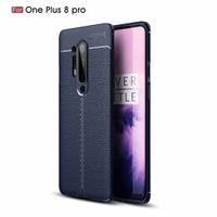 Slim Litchi Slim Left Case For Oneplus 8 Proo One plus 7T Pro 7 Pro 6t 65T 5