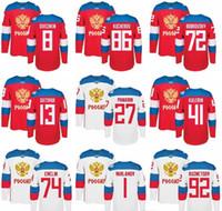 Wholesale men Ice Hockey Russia Jerseys World Cup WCH 72 Art...