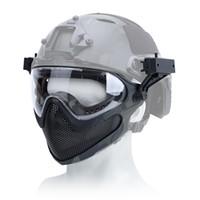 Airsoft aço malha Máscara Máscara Outdoor Cara Sports tático completa Segurança Rosto Airsoft Paintball respirável Caça Equipamentos de Proteção