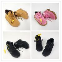 Timberland2020 Enfant Chaussures Luxe Garçons Filles Enfants Bébé Plaid Motif Chaussures étudiants adolescents Bottes Matin pour Hot Vendre en gros 26-35 EUR