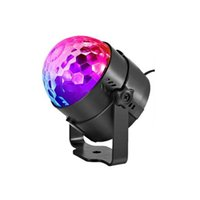 IR-Fernbedienung LED-Kristall magische Kugel 3W Mini RGB Stadiums-Lichteffekt-Lampen-Birnen-Partei-Disco DJ Club Party Light Show CRESTECH