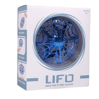 2019 UFO 제스처 유도 서스펜션 항공기 똑똑한 비행 접시 LED 조명 UFO 공 비행 항공기 RC 장난감 LED 선물 유도 무인 항공기