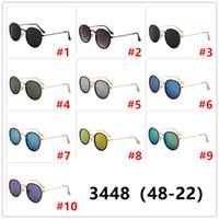 2020 neue Retro- klassische Metall-Kreis-Sonnenbrille 3448 Mens Designer Sonnenbrillen Frauen Berühmte Marken-Sonnenbrille 48mm Objektiv UV400
