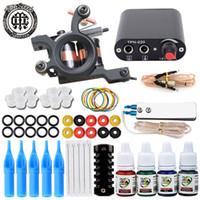 Single Tattoo Gun Kit Tattoo Maschinengewehr für Futter und Schattierung mit Power Supply Nadeln Grip Ink Tipps für Anfänger Tattoo Lernen