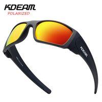KDEAM 2019 Neue Ankunft Männer Sport Sonnenbrille TR90 Rahmen HD Polarisierte Spiegellinse Outdoor Eyewear UV400 5 Farben KD555