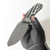 제한된 사용자 정의 버전 SCK 접는 칼 고품질 야외 장비 전술 캠핑 나이프 사냥 도구 강력한 CPM-S35VN 블레이드 TC4 티타늄 프레임