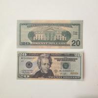 Richesse de la richesse d'argent Jouets US Dollar Banknote 20us Dollar Banknote faux argent Film Argent de diverses dénominations