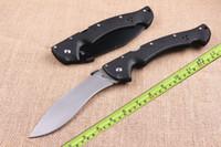 35CM Coltello chiudibile Espada Large 63NGL Large Steel 13.7 inch Coltello Titan 440c Black / white con borsa in nylon