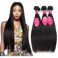 8A Peruvian Malaysian Indian Brazilian Virgin Human Hair Weaves Straight Hair Weave Bundles Natural Color Hair Wefts