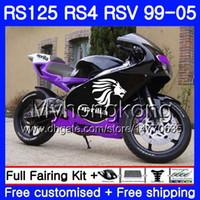 RS125 BLK viola Per Aprilia RS4 RSV125R RS 125 RS125 99 00 01 02 03 04 05 318HM.19 RS125R RSV125 R 1999 2000 2001 2002 2003 2005 carenatura