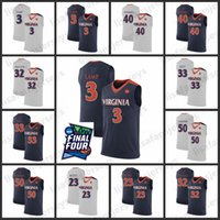Virginia Cavaliers Basketball Jersey 2019 Final Four Herren 23 Scott Lampe 32 Perrantes Salt 40 Parkhill 50 Sampson Virginia Cavaliers Jersey