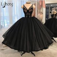 2020 Black Curto Curto Vestidos De Cocktail Vestidos Sexy Espaguete Vestido De Bola Camadas Tule Prom Noite Vestido Plus Tamanho Formal Vestido Homecoming