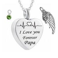 'Te amo para siempre' Cementación del corazón Memorial Ashes URN NACIONES DE PISTA DE PISTA DE LA PISTA DE LA PISTA DE LA JEISHERA DEL ÁNGEL ALAS DEL ÁNGEL MANTENIMIENTO DEL PAPA