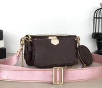 2019 패션 여성이 좋아하는 미니 포 셰트 가방 3 개 액세서리 크로스 바디 백 빈티 어깨 가방 m44823 지갑 멀티
