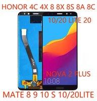 50pcs Pannelli di assemblaggio del touch screen del touch screen del telefono cellulare di alta qualità per Huawei Honor 4C 4x 8x 20 Mate 10 Lite riparazione e sostituzione DHL DHL