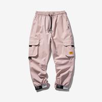 Erkek Pantolon Erkek Yaz Ince Serin Kargo Rahat Polar Cepler Moda Pantolon Artı Boyutu Gevşek Baggy Joger Çalışan Erkek