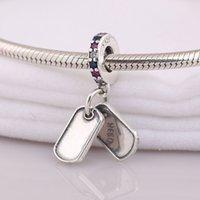 Encantos Dangle Originali 925 prata esterlina se encaixa DIY estilo jóias pulseira Hero cão tag 797659czrmx h8