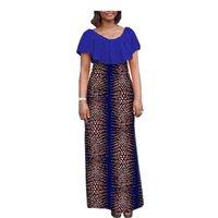 Vestidos Africanos Para Mulheres De Festa Desgaste Ankara Vestidos de Meninas Cera Imprimir Esfera Dashiki Cocktail não Saia A7225138