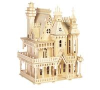 Puzzle de Victoria Modelos a Escala bricolaje Dollhouse Juguetes Fantasía Villa 3D y edificio para el adulto mayor de la orden del precio de fábrica