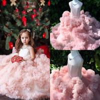 2019 Summer Lovely Baby vestido de niña de las flores Princesa Pageant Lace Tulle Little Girls Vestidos para ocasiones especiales Vestidos para adolescentes