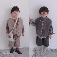 Autumn winter baby boys fashion waistcoat Korean style sleev...
