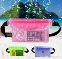 Su parkı evrensel plastik torba su geçirmez cep telefonu çantası yüzme carry-on öğeler su geçirmez saklama çantası TO408