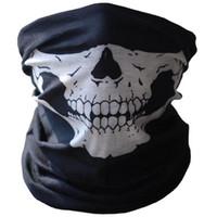 Máscara de esqueleto de crânio Tático Máscara de rosto exterior Máscara De Rosto Completo Máscara De Ar Respirável