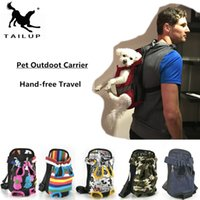 [TAILUP] Dog Carriers Fashion Red Color Travel Dog Bag Backp...