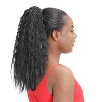 rizado recto extensión de la cola de caballo de cabello humano para las mujeres Negro, italiano Yaki del pelo brasileño virginal 140g cola de caballo postizo libera la nave