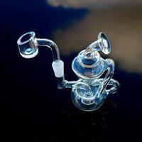 """4"""" polegadas 10mm Pipes Feminino Dab Joint Oil Rigs reciclador de água com quartzo Banger ou tigela HR024"""