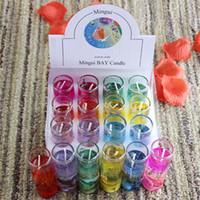 Duftkerzen Bunte Sea Shells Jelly Kristall Wachs Transparente Glas-Kerze-Hochzeitsbankett-Partei dekorative Kerze HOT GGA2731