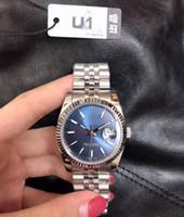 U1 مصنع 36 ملليمتر للجنسين الرجال النساء الساعات التلقائي الميكانيكية الياقوت الماس اليوبيل الفولاذ المقاوم للصدأ سيدة الساعات الذكور الإناث المعصم