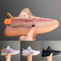 Kids Shoes 350 Running Shoes Baby Boy Girl Clay Static Kanye...