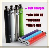 بطارية eGo T Vape Pen لشحن البطارية أسفل البطارية 1300mah UGO V3 USB