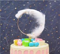 1 ADET Tüy Yuvarlak Inci Kek Topper sevgililer Günü Mutlu Doğum Günü Düğün Parti Pişirme Tatlı Kek Dekorasyon Malzemeleri