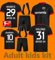 Kit enfants adultes 20 21 Leverkusen Soccer Jersey L.BENDER HOME BLACK 2020 2021 Bayer 04 Leverkusen Havertz DEMIRBAY ALARIO VOLLAND Football Sh