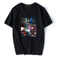 Rapper Hip-hop chanteur Jus de respect WRLD T-shirt imprimé hommes d'été chic et Streetwear Swag mode casual Fan Club Harajuku Hauts DYDHGMC213