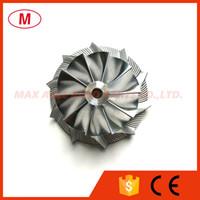 CT10 43.20 / 58.00mm 10 + 0 palas Turbo del alto rendimiento del billete rueda del compresor / Aluminio 2618 / rueda de fresado de turbocompresor Cartucho / CHRA